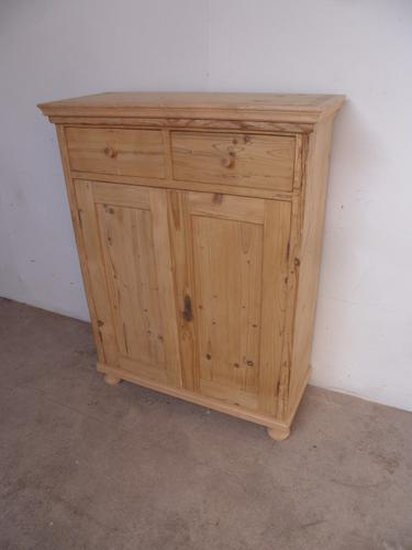 Superb Tall Thin Old Pine Kitchen Dresser Base to wax / paint c.1920 (1 of 1)
