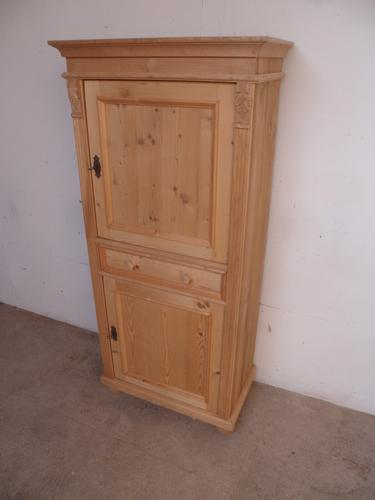 Totally Multi Functional Antique Pine Storage Cupboard to wax / paint c.1920 (1 of 1)