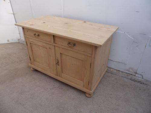 Fantastic Low Pine Dresser Base / TV Stand to wax / paint c.1920 (1 of 1)