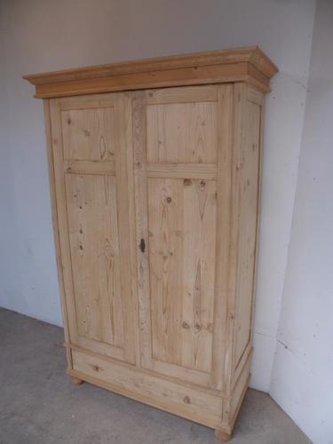 Classic Panelled Old Pine Knockdown Wardrobe to wax / paint (1 of 1)