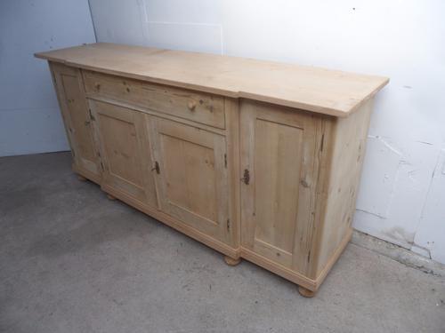 Super Large 2 Metre Old Pine 4 Door Kitchen Dresser Base to wax / paint c.1920 (1 of 1)