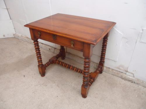 Top Quality Bobbin Turned 1 Drawer Cherrywood Side Table (1 of 11)