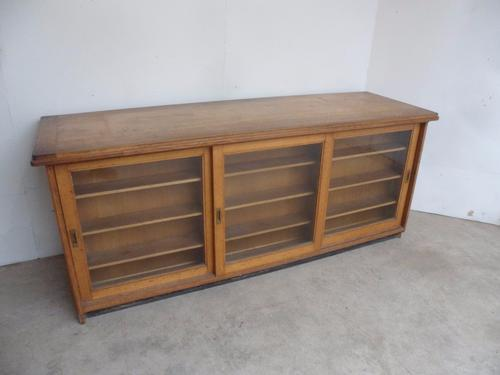 An Amazing Victorian Solid Light Oak Sliding Glazed / Drawers Shopfitting (1 of 1)
