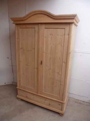 Lovely Arch Top Antique Old Pine 2 Door Knockdown Wardrobe to paint / wax (1 of 1)