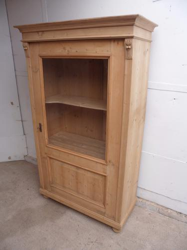 Mint Clean Victorian Antique Old Pine Display Cabinet to paint / wax (1 of 1)