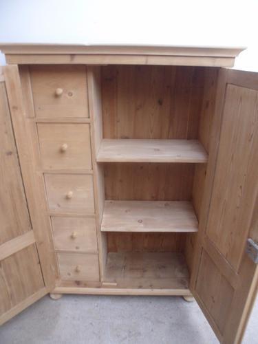 An Interesting Large 2 Door 5 Drawer Child's Wardrobe (1 of 1)