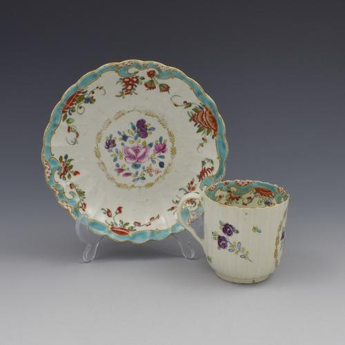 First Period Worcester Porcelain Compagnie Des Indes & Rich Japan Coffee Cup & Saucer (1 of 11)