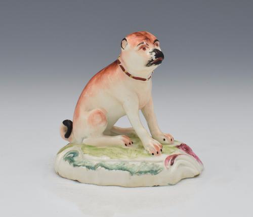 18th Century Duesbury Derby Porcelain Pug Figure N2 C.1770 (1 of 15)