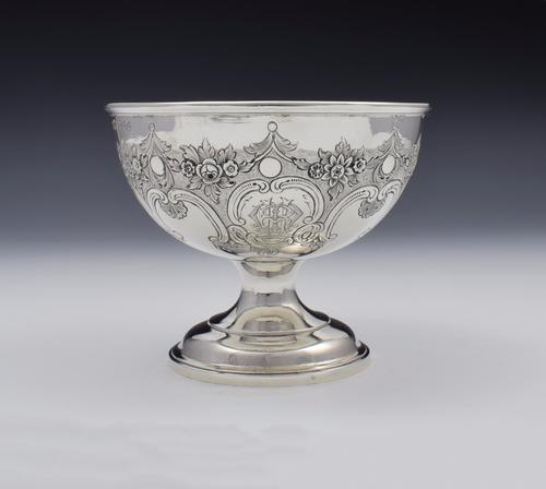 Victorian Scottish Silver Chased Pedestal Bowl Mackay & Chisholm Edinburgh (1 of 1)