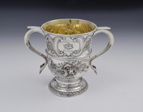 "George II Silver Twin Handled Loving Cup ""Feast of Saint Joseph"" Georgian (1 of 16)"