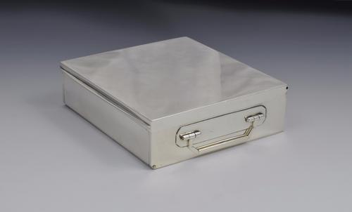 Fine George V Asprey Silver Sandwich Box 1922 (1 of 1)