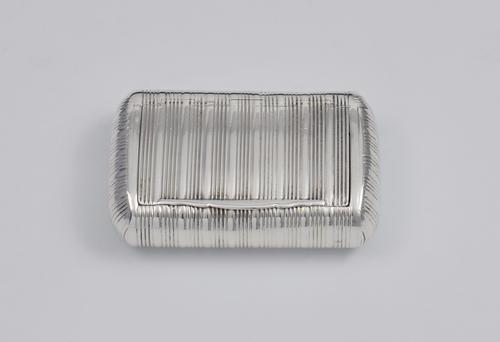 George III Fine Ribbed Silver Snuff Box 1810 Shekleton (1 of 1)
