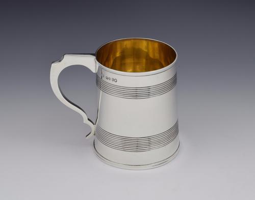 Victorian Silver 1 Pint Beer Mug Tankard Gilt Interior (1 of 1)