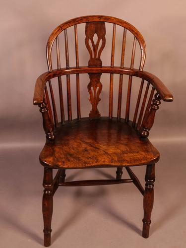 Ash & Elm Windsor Chair c.1850 (1 of 9)