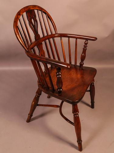 Yew Wood Windsor Chair Stamped Nicholson Rockley (1 of 11)