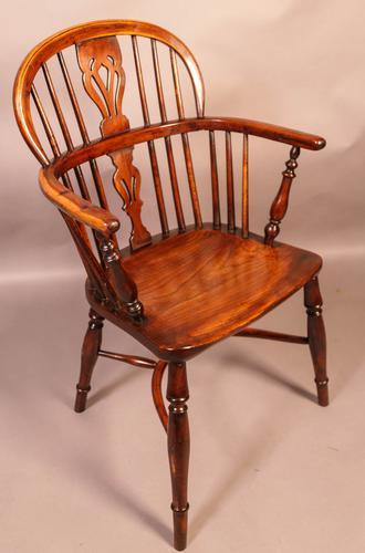 Yew Wood Low Windsor Chair Rockley Workshop (1 of 10)