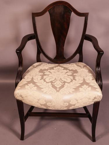 Hepplewhite Period Carver Chair (1 of 8)