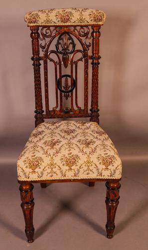 Gothic Prayer Chair c.1860 (1 of 7)