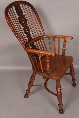 Rare Yew Wood Windsor Chair Spencer Retford Worksop c.1850 (1 of 1)