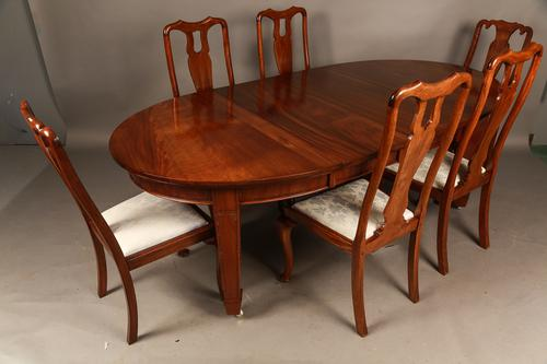 Mahogany Extending Dining Table & Six Dining Chairs (1 of 1)