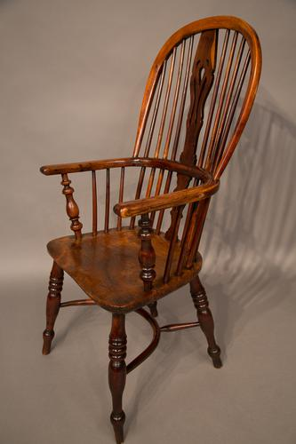 Yew Wood High Windsor Chair Nottinghamshire c.1840 (1 of 1)
