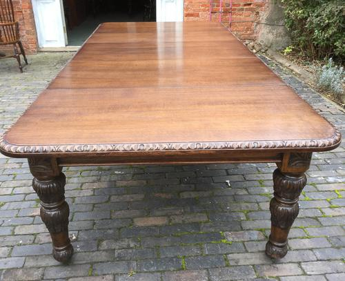 Victorian Oak Wind Out Extending Dining Table C.1870 (1 of 1)