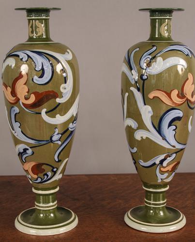 Pair of Arts Vases Wardle c.1890 (1 of 1)