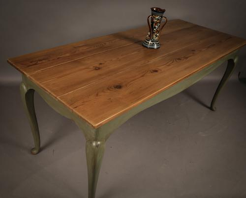 Farmhouse Dining Table Pine Top c.1920 (1 of 1)