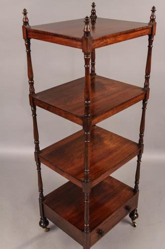 Rosewood 4 Tier Stand Early Victorian (1 of 1)