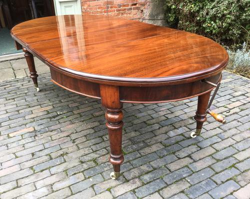 Victorian Mahogany Extending Dining Table 2 Leaves (1 of 1)