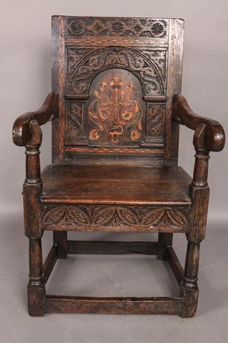 Oak Wainscot Chair c.1690 (1 of 1)