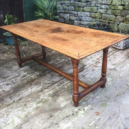 Arts & Crafts Oak Dining Table c.1890 (1 of 1)