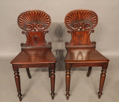 Pair of Georgian Hall Chairs (1 of 1)