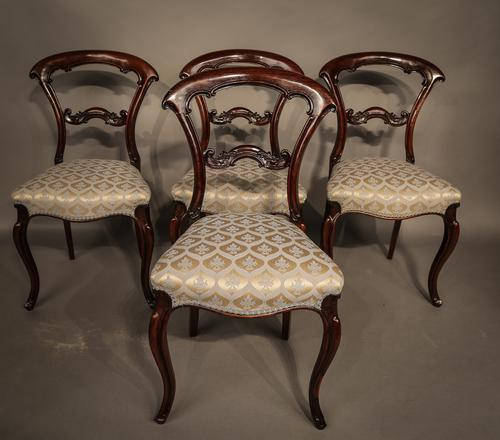 Set of 6 Victorian Dining Chairs in Rosewood (1 of 1)