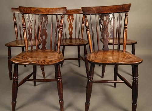Good Set of Comb Back Kitchen Windsor Chairs Grantham (1 of 1)
