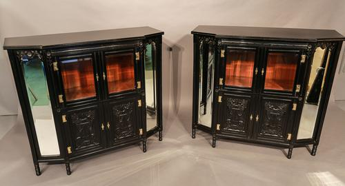 Rare Pair of Aesthetic Movement Cabinets c.1880 (1 of 1)