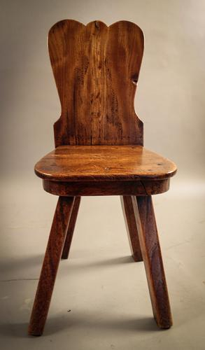 Georgian Elm Hall Seat C.1790 (1 of 1)