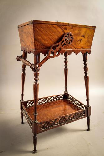 Unusual Victorian Ladies Sewing Stand (1 of 1)