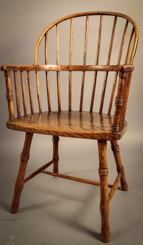 West Country Spindle Back Windsor Armchair c.1800 (1 of 1)
