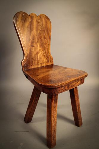 Interesting Georgian Hall Chair C.1790 (1 of 1)