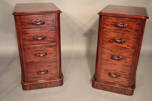 Pair of Victorian Mahogany Bedside Chests (1 of 1)