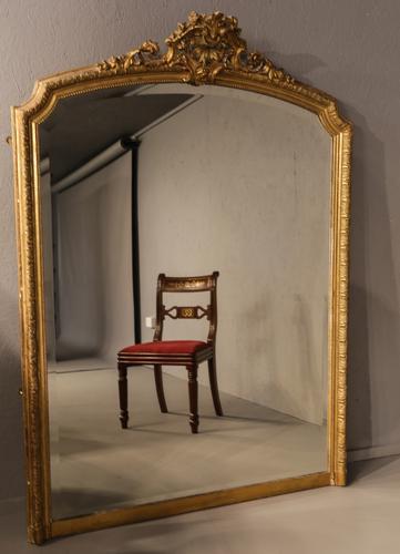 19th Century Overmantle Mirror (1 of 1)