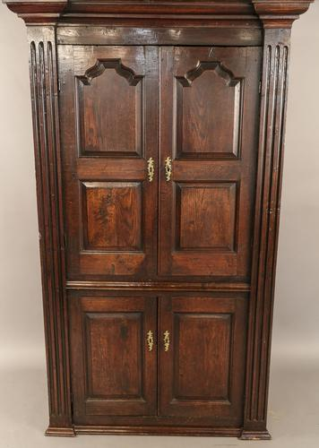 Georgian Full Height Corner Cupboard in Oak (1 of 1)