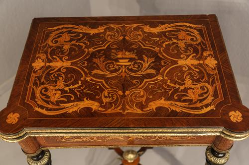 French Kingwood Card Table Marquetry c.1890 (1 of 1)
