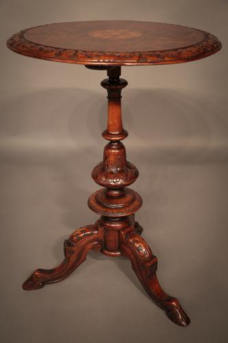 Victorian Occasional Table Walnut Inlaid (1 of 1)