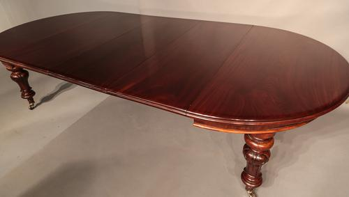 Victorian Extending Dining Table with 3 Original Leaves (1 of 1)