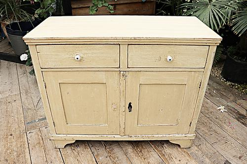 Fabulous Old Pine & Painted Dresser Base Sideboard / Cupboard - We Deliver (1 of 9)
