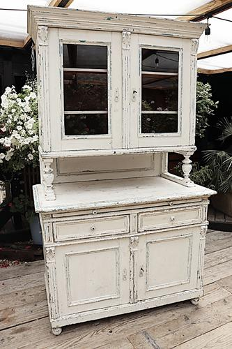 Fabulous Old Victorian Two Piece Pine / White Painted Dresser / Cupboard - We Deliver! (1 of 13)