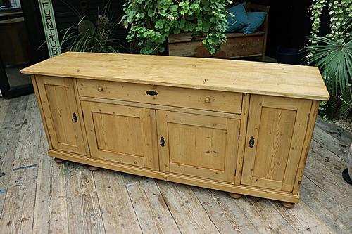 Big! Old 2M Antique Pine Dresser Base Sideboard / Cupboard / TV Stand - We Deliver! (1 of 13)