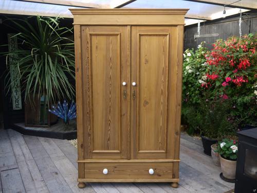 Wow! Beautiful Old Antique Edwardian Knock Down Pine Wardrobe (1 of 1)